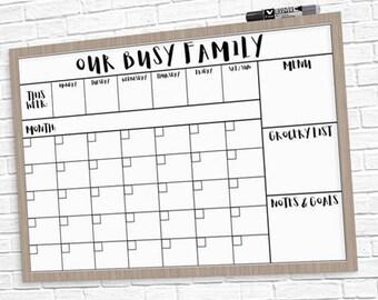 "HUGE Family Calendar 24"" x 36"" Large Printable - 3 Styles!"