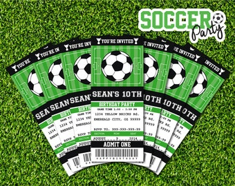 Soccer Party Invitation Soccer Birthday Invitation Soccer - Party invitation template: volleyball party invitation template