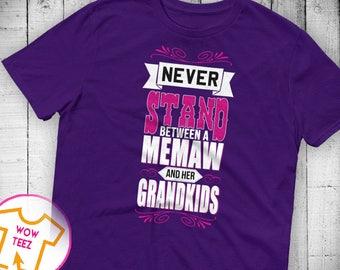 Shirt for Memaw Custom Memaw Personalized Memaw Shirt Mother's Day Memaw Shirt Memaw TShirt Customize Memaw Memaw Top Christmas