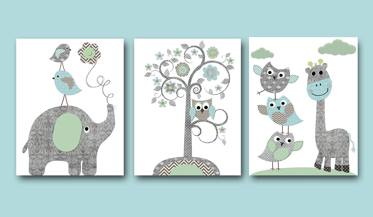Baby room decor wall art