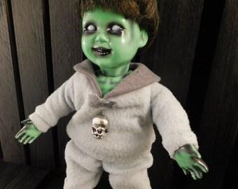 "Kalma 9"" OOAK Poseable Porcelain Horror Doll"