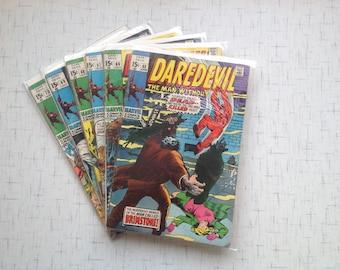 Daredevil #'s 65 Fine, 66 Good, 67 Fine +, 68 G, 69, G, 70 G Comic Books Bundle