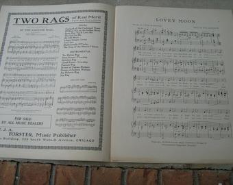 1912 sheet music (   lovey moon   )