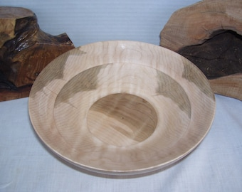 Vermont Crafted Curly Maple Wood Bowl