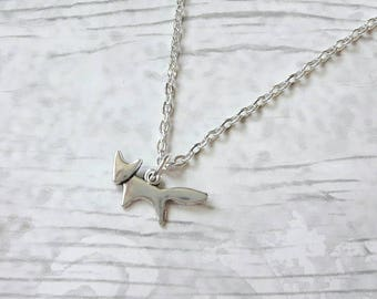 Fox necklace, cute foxy jewellery, woodland forest jewelry, animal necklace, wilderness necklace, gifts for her, dainty boho present
