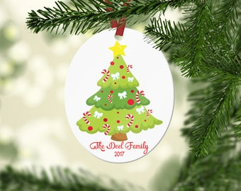 Personalized Christmas Tree Ornament, Family Christmas Ornament,  Personalized Christmas Ornament, Custom Ornament