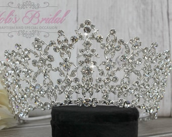 FAST Shipping!!! Swarovski Tiara,  CristalTiara ,Wedding Tiara ,Crown , Princess Tiara, Quinceanera, Cristal Headpiece