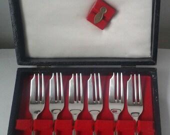 Silver Plated Dessert Forks/K.Bright Sheffield/Vintage