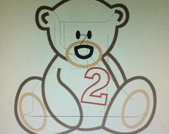Personalized Teddy Bear Number Birthday Shirt