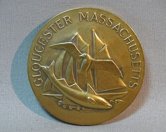George Manuel Aarons Gloucester Massachusetts 350th Anniversary Medallion