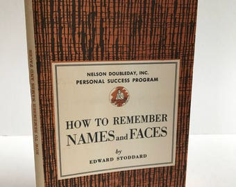 How to Remember Names and Faces // Vintage Book // Vintage Paper