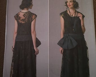 Butterick vintage 1920s downtown abbey flapper dress sewing pattern B6399
