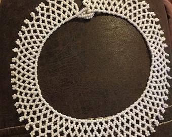 Vintage Handmade Beaded Collar