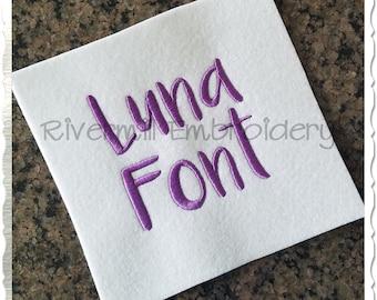 Luna Machine Embroidery Font Monogram Alphabet - 3 Sizes