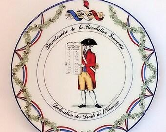 French revolution Commemoration plate