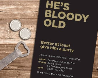 Bloody Old Party Invitation