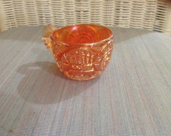 Carnival glass cup