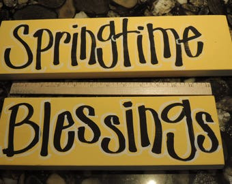 Wreath Attachment, Yard Stake Makings, Hand Lettered, Painted Signs