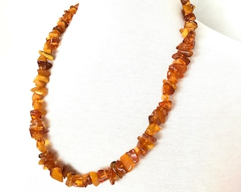 Natural amber bead necklace