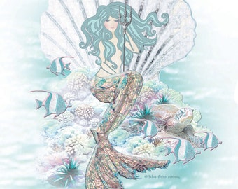 "Always be a Mermaid 11""x14"" Art Print"