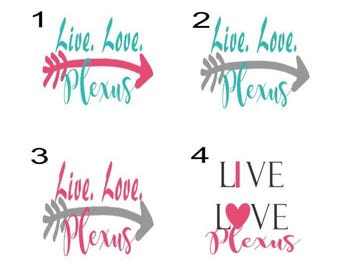Live. Love. Plexus decal
