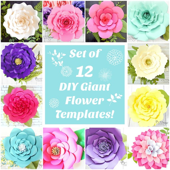 Paper flowers large paper flowers template patterns mightylinksfo Images