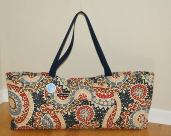 xlarge Yoga Bag with Quilted lining -Made to Order.