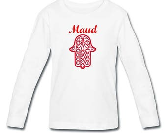 T-shirt sleeves hand of Fatima girl personalized with name