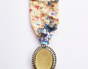 Cosmic Meditations // One-of-a-kind handstitched mixed media brooch // textile art by Moth and Rust made in Kansas