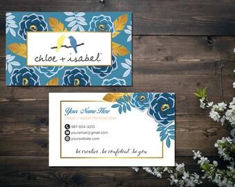 Chloe isabel business cards custom business card blue personalized chloe and isabel business card custom chloe and isabel card fast free personalization colourmoves