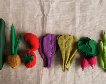 Play food spring vegetables