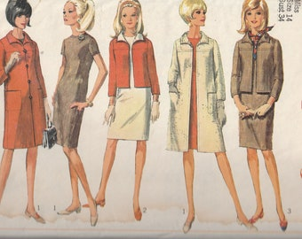 Simplicity 6743 1960's Dress, Jacket or Coat