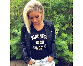 Kindness is so Gangster, Womens Muscle Tank. Gangster Tank. Muscle Tee Sleeveless Shirt. Sports Bra Tank. Kind Tank Top. Bodybuilding. Nice