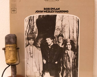"Bob Dylan Vinyl Record 1960s Country Rock Folk Class System Issues ""John Wesley Harding"" (1980s Columbia Records re-issue) -  Vintage Vinyl"