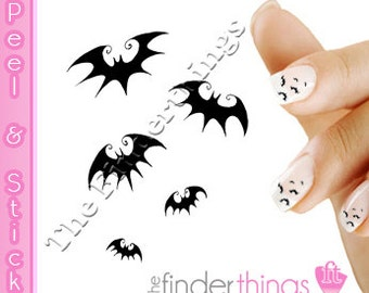 Halloween Bats Scary Nail Decal Stickers Bat101