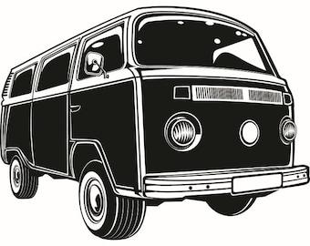 vw bus clip art etsy rh etsy com VW Clip Art vw bus vector clipart