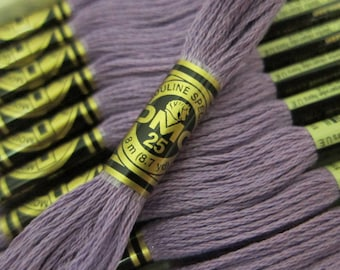 209, Dark Lavender, DMC Cotton Embroidery Floss - 8m Skeins - Available in Full (12-skein) Boxes - Get Up To 50% OFF, see Description
