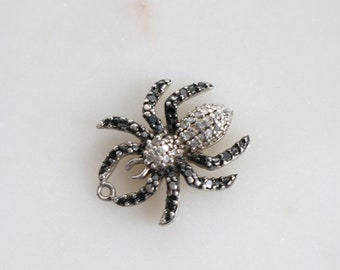 Sterling Marcasite Spider Charm - Sterling Spider