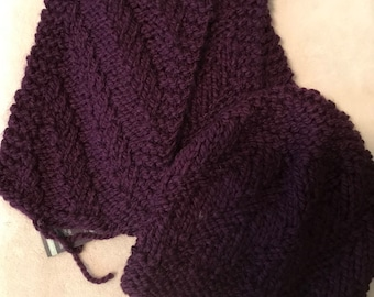 Purple scarf with matching hat