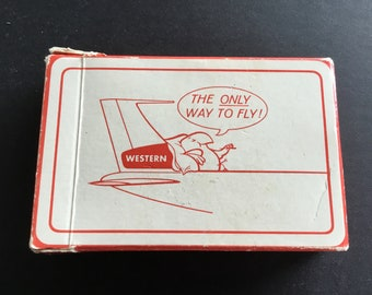 Vintage , Western Airlines playing card deck, complete