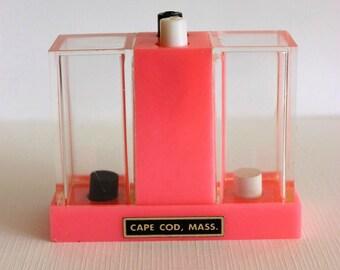 Vintage SOUVENIR Salt & Pepper Shakers - CAPE COD (1960s Pink Plastic)