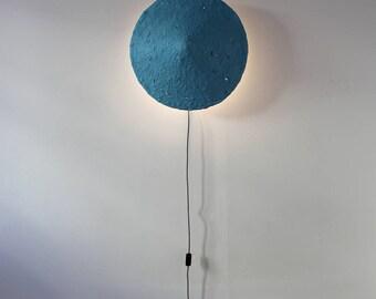Lámpara colgante Mizuko Gris, lampara de techo, lampara, papel mache, lámpara de papel maché, lámpara de papel, lámpara industrial, eco