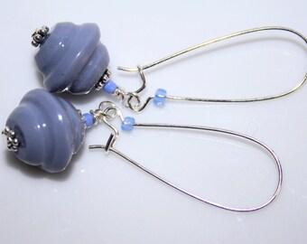 Periwinkle Blue polymer clay earrings