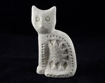 gallerymichel Aldo Londi for Bitossi Flavia Montelupo Italy Unglazed Pottery Cat
