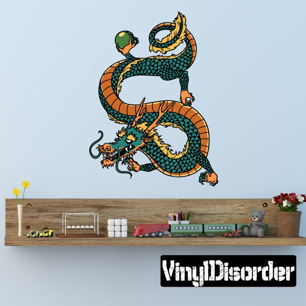 Japanese Dragon Wall Decal Wall Fabric Vinyl Decal - Custom vinyl wall decals dragon