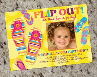 Flip-Flop Party Invitations - Printable Design