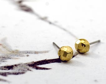 RAW BRASS CAST Studs - Stainless Posts - 5mm