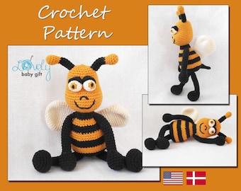 Crochet Pattern, Amigurumi Bee, Crochet Baby Toy Pattern, Animal, CP-116