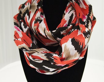 Bold Red Infinity Scarf