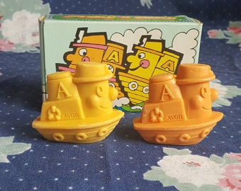 Hooty and Tooty Avon Bar Soap Tugboat from the 70s in Original Box FS